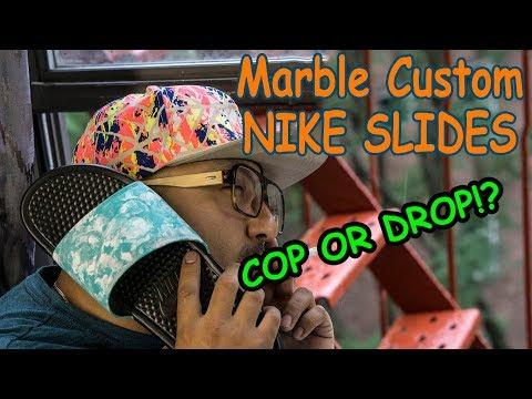 Marble Custom Nike Slides - Cop Or Drop?