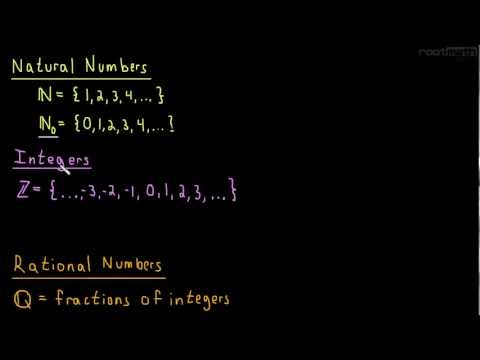 1.1 Numbers (natural, integers, rational, real, complex)