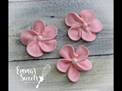 How to Make Royal Icing Apple Blossom Flowers by Emma's Sweets