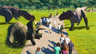 RELEASING DANGEROUS DINOSUARS INTO THE PUBLIC ( Jurassic World Evolution )