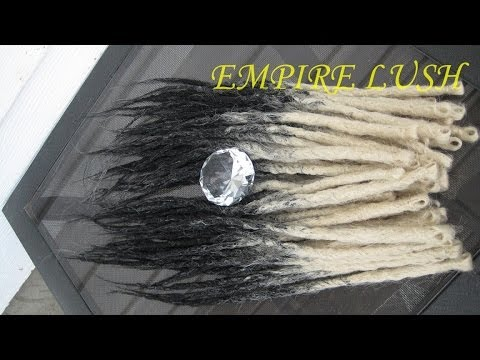 How to make Natural Style Crocheted Synthetic Transitional Dreadlocks. The EMPIRE LUSH way *Part 1*.