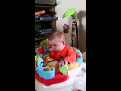 Leo testing out his bouncer
