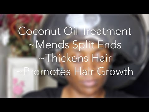Coconut Oil Treatment for Split Ends and Thicker Hair (ALL Hair Types)