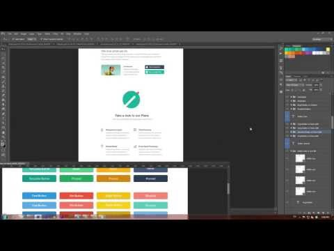 How to Create a Website in Flat Design Style (Video Tutorial)