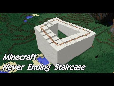 Minecraft - Infinite Staircase Optical Illusion