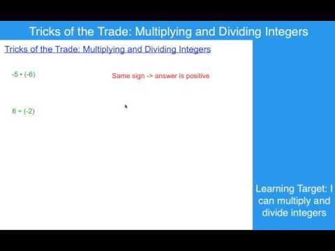 Tricks of the Trade:  Multiplying and Dividing