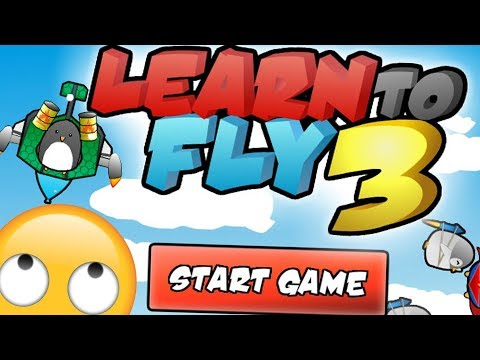 THE ONLY PENGUIN THAT CAN FLY!? - LEARN TO FLY 3! - Flash Player Games