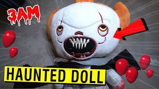 PENNYWISE DELIVERED A HAUNTED DOLL TO MY HOUSE AT 3 AM!! (IT'S ALIVE)