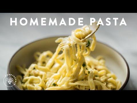 Homemade PASTA | Aglio e Olio 🍝Delish Noodle Series