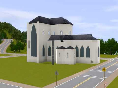 How to Build a Sims 3 Gothic Cathedral / Church