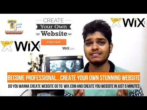 How to Make a Professional Website on Wix.com  - Step By Step - In Hindi