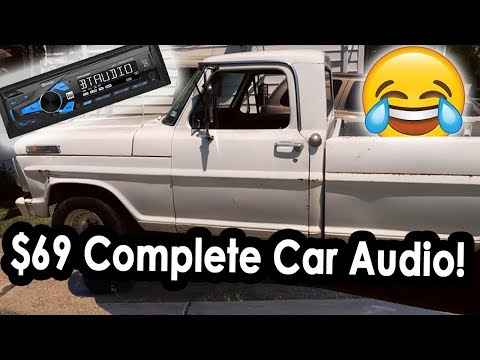 The $20 Walmart Car Stereo in my Ford F100!