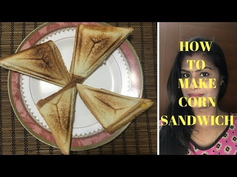 How to make Corn sandwich | bread sandwich with corn | easy but filling sandwich | breakfast recipe