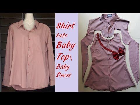 Convert Shirt in to baby top\ Baby Dress