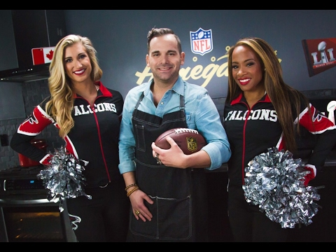 Tacos with Chef Matt Dean Pettit & Falcons Cheerleaders | Super Bowl LI | NFL Canada Homegating