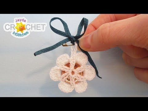 The Bride's Lucky Penny Charm - Crochet Wedding Lace