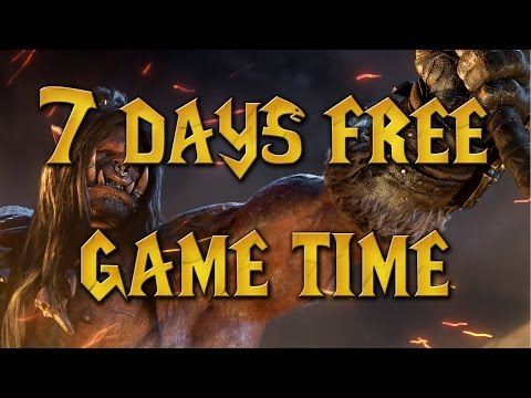 World of Warcraft - How to Get 7 Days Free Game Time (Warlords of Draenor)