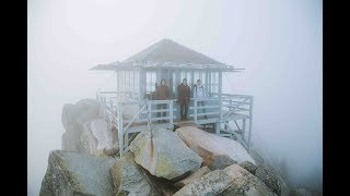 CLIMBING A MOUNTAIN and CAMPING IN A FIRE LOOKOUT.