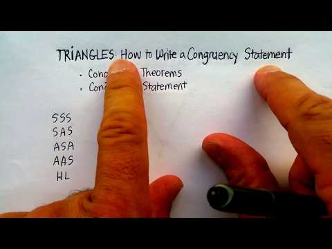 Triangles: How to Write a Triangle Congruency Statement