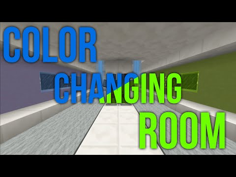 Minecraft - Color Changing Room - Redstone Base Invention