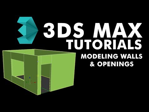 3ds Max 2017 Tutorial - Modelling Walls and Openings