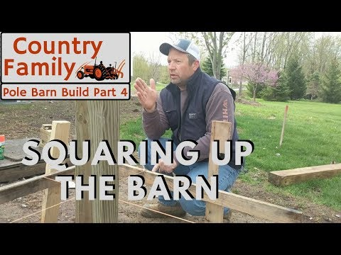 How to Build a Pole Barn Shop - Part 4 - Building Layout with Batter Boards and String