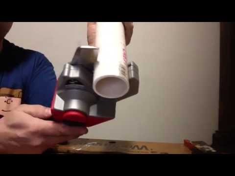 Milwaukee PVC cutter cut 2 inch pipe MUST SEE