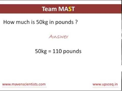 How to convert kilograms to pounds | Team MAST
