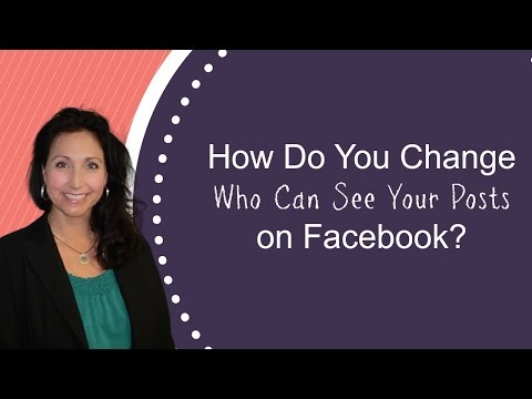 How to change privacy settings on a Facebook Post | PC and Mobile Tutorial