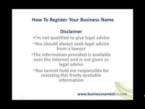 Register Business Name UK