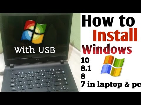 How to install windows 10 (8.1-8-7 etc) with USB pandrive or memory card ? hindi