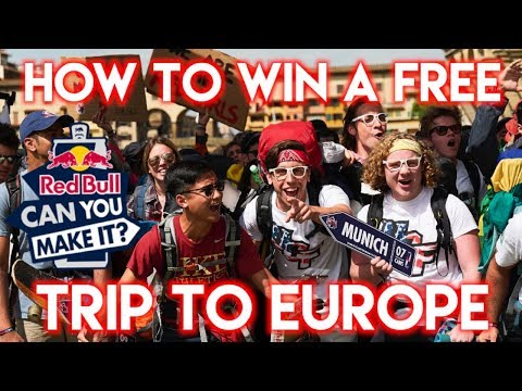 HOW TO WIN A FREE TRIP TO EUROPE - Red Bull Can You Make It 2018 - Travel Challenge