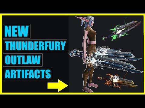 New Thunderfury Reborn Artifact Models - Outlaw Rogue Skins | Legion News