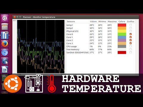 Ubuntu Hardware Temperature Tool Psensor - CPU Motherboard Video Card