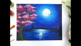 Classplan Moon Night Oil Pastel On Black Card Stock Inadvertent