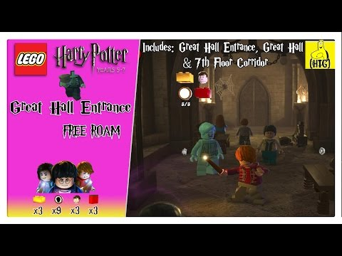 Lego Harry Potter 5-7: Great Hall Entrance FREE ROAM (All Collectibles) - HTG