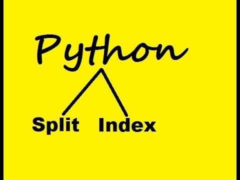 Python Split & Index