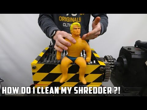 High Pressure Washing the Shredder after Shredding Stretch Armstrong