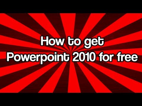 how to get Microsoft Powerpoint 2010 for free (FULL VERSION)