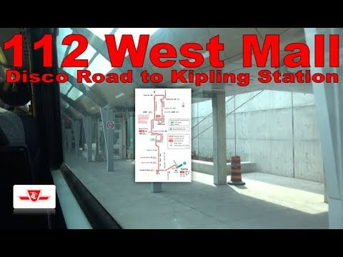 112 West Mall - TTC 2007 Orion VII 8058 (Disco Road to Kipling Station)