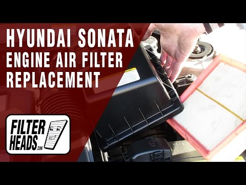 How to Replace Engine Air Filter 2006-2010 Hyundai Sonata L4 2.4L