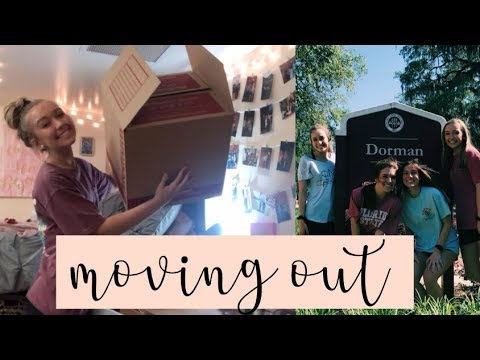 MOVING OUT OF MY COLLEGE DORM | florida state