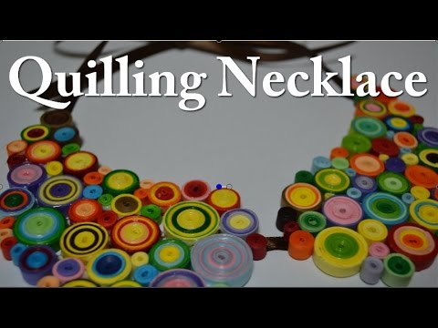 How to make a Paper Quilling Necklace - Birthday Gift Idea - DIY Crafts Tutorials - Giulia's Art