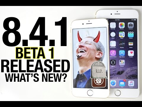 iOS 8.4.1 Beta 1 Released - What's New? RIP Taig Jailbreak