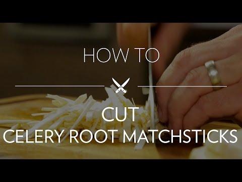 Cutting Celery Root Matchsticks