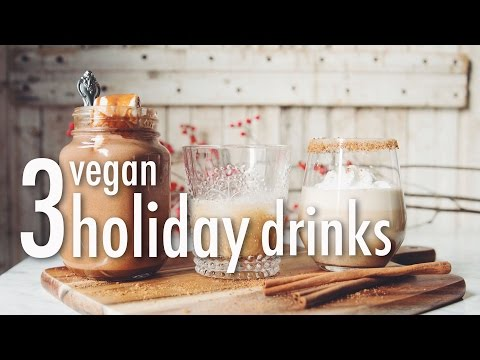 3 VEGAN HOLIDAY DRINKS  * HAZELNUT HOT CHOCOLATE * BAILEY'S * EGG NOG | hot for food