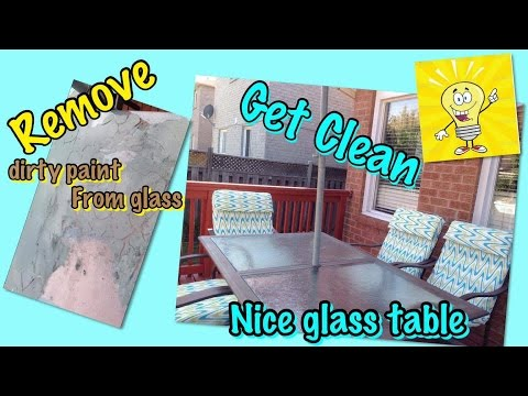 How to Remove Paint From Glass - So Easy, So Fast