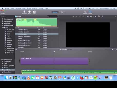 redigera podcast i iMovie, version 10
