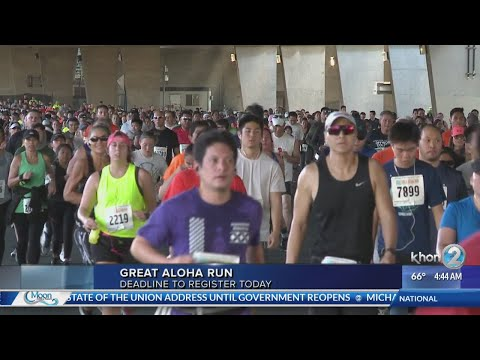 Last day to register for the 35th annual Great Aloha Run, happening in February