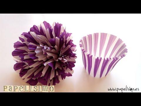 Flor de papel cupcake --- Cupcake paper flower